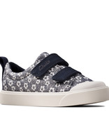 Clarks City Bright Navy Floral Infant