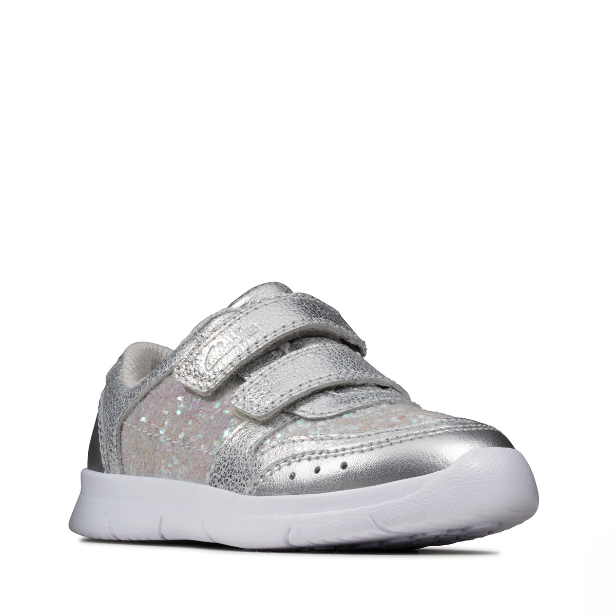 Clarks Ath Sonar Silver Infant