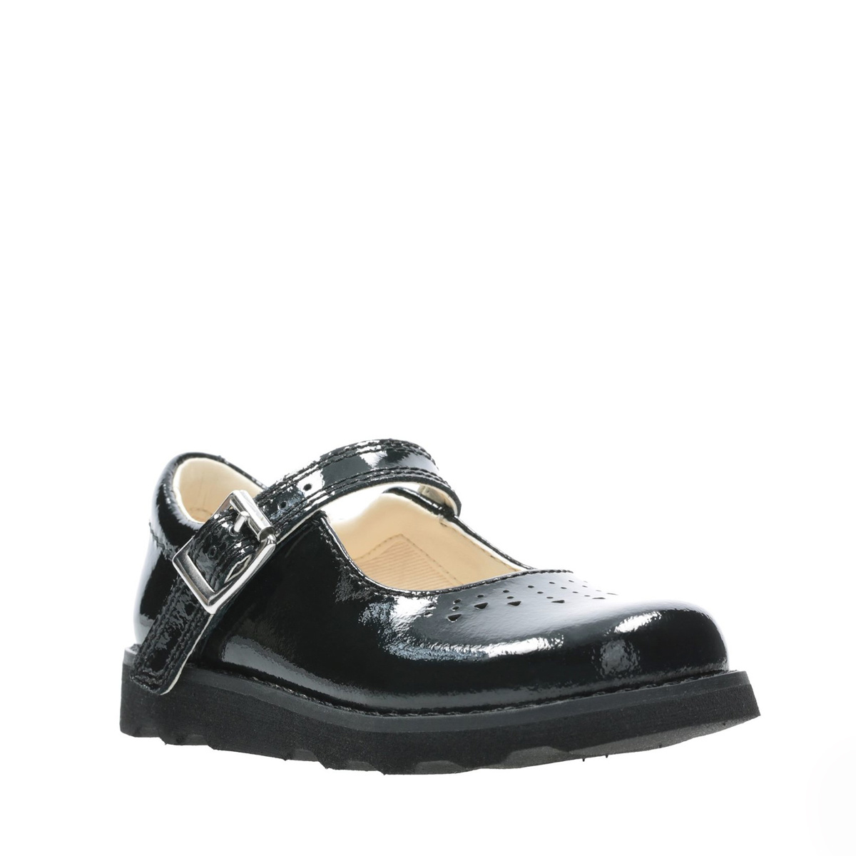 Clarks Crown Jump Black Patent