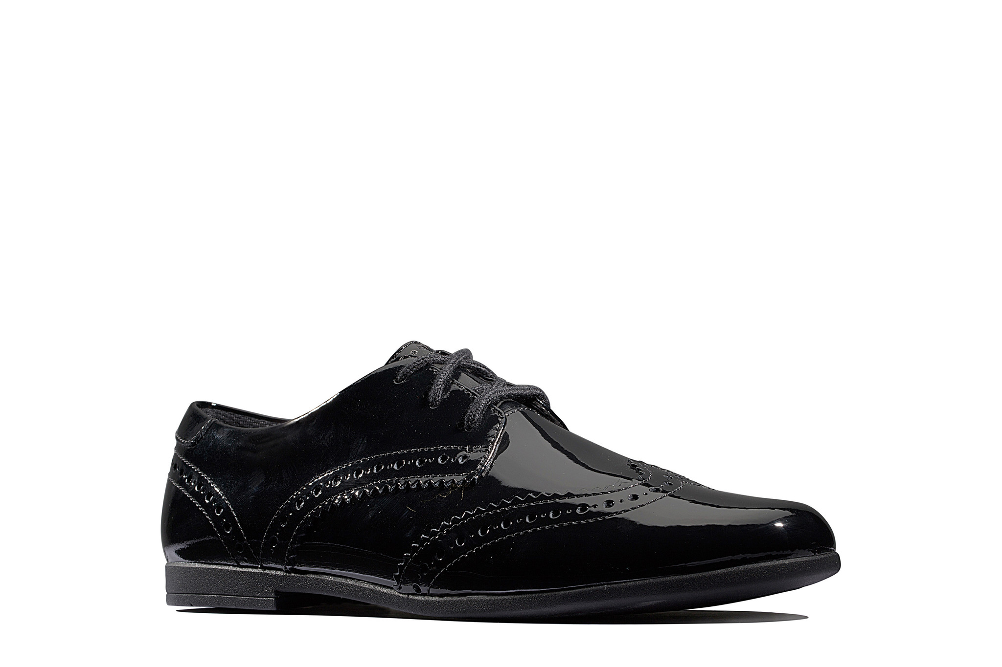 Clarks Scala Lace Patent Youth
