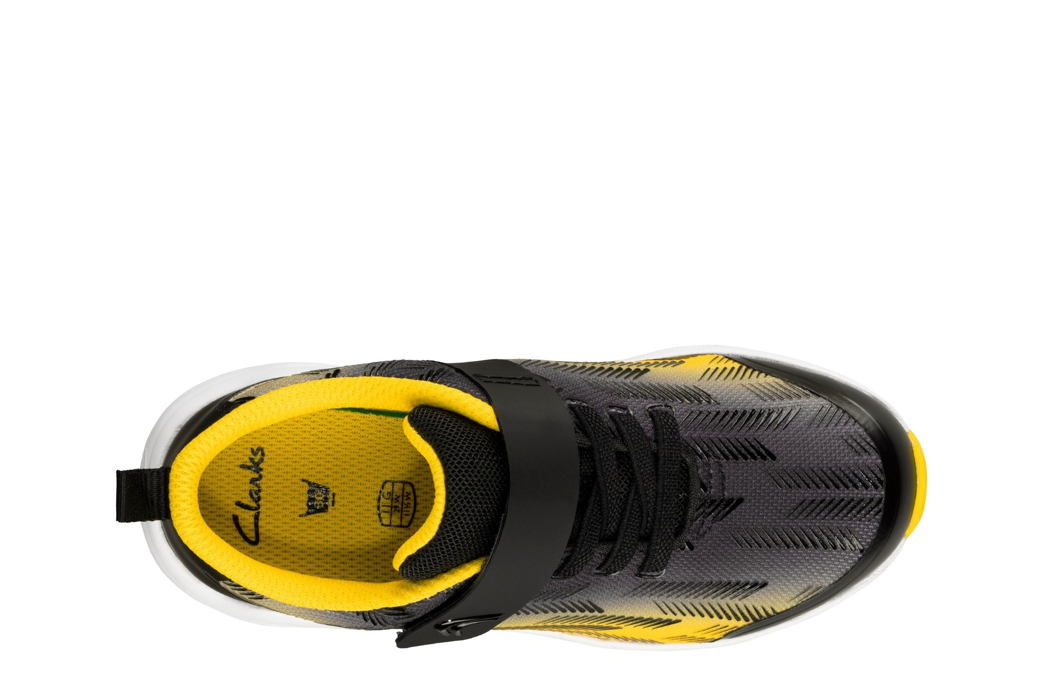Clarks Aeon Pace Black Yellow Junior