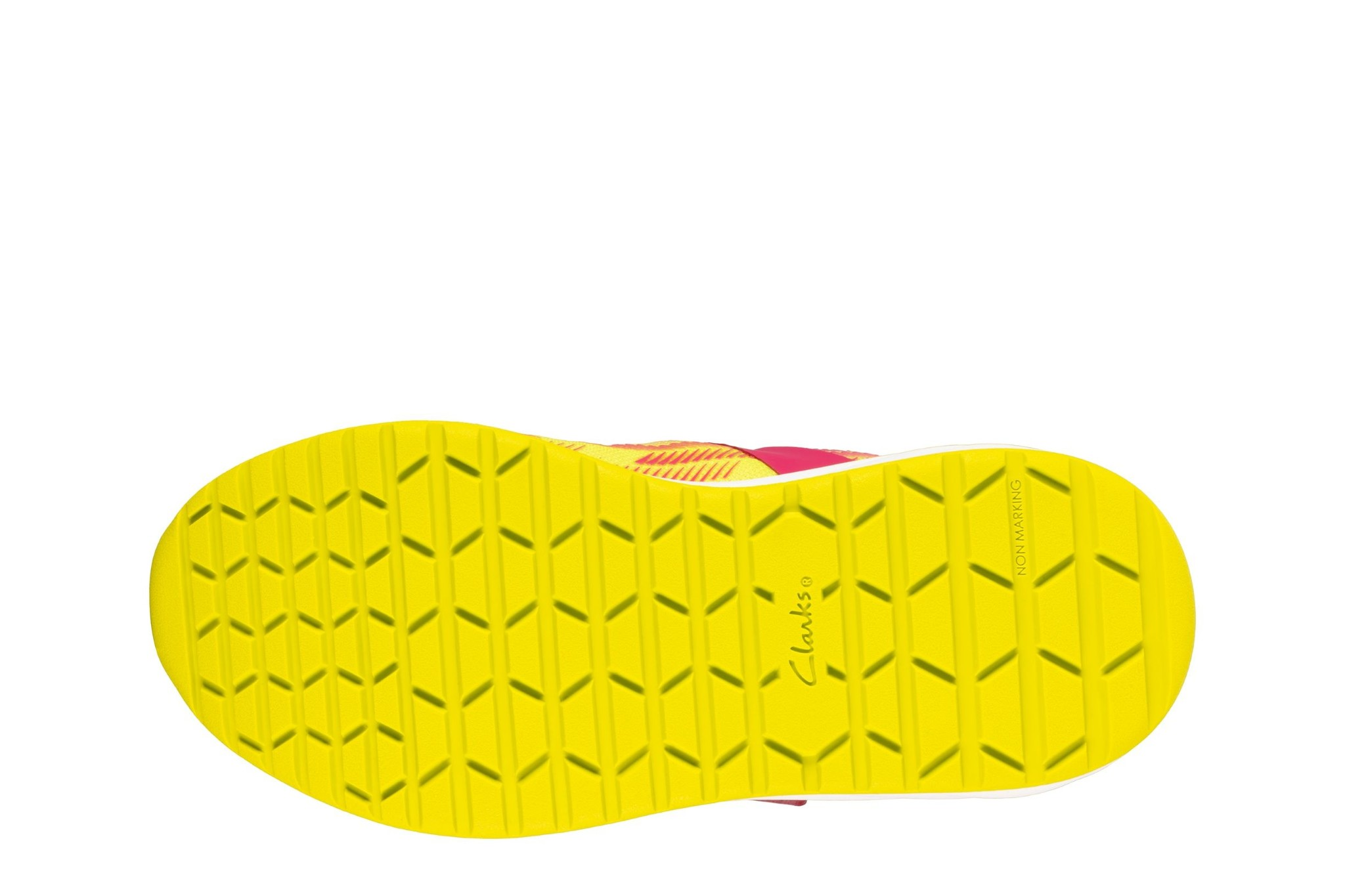Clarks Aeon Pace Pink Lime Junior
