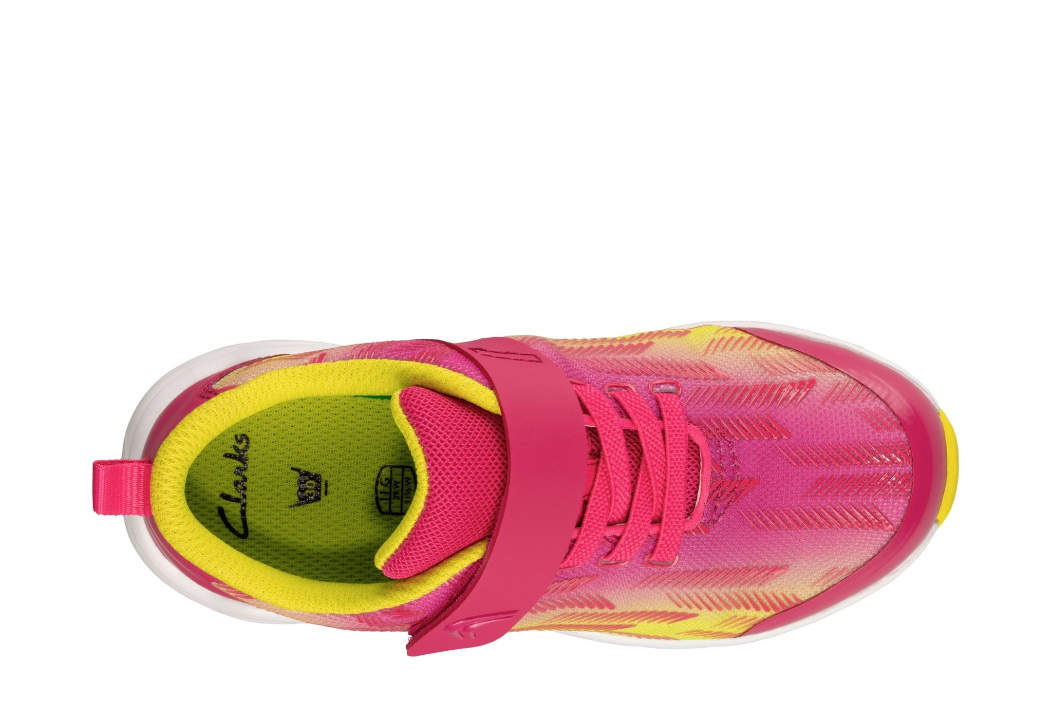 Clarks Aeon Pace Pink Lime Youth