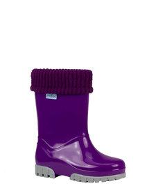 Term Wellies Purple Grey