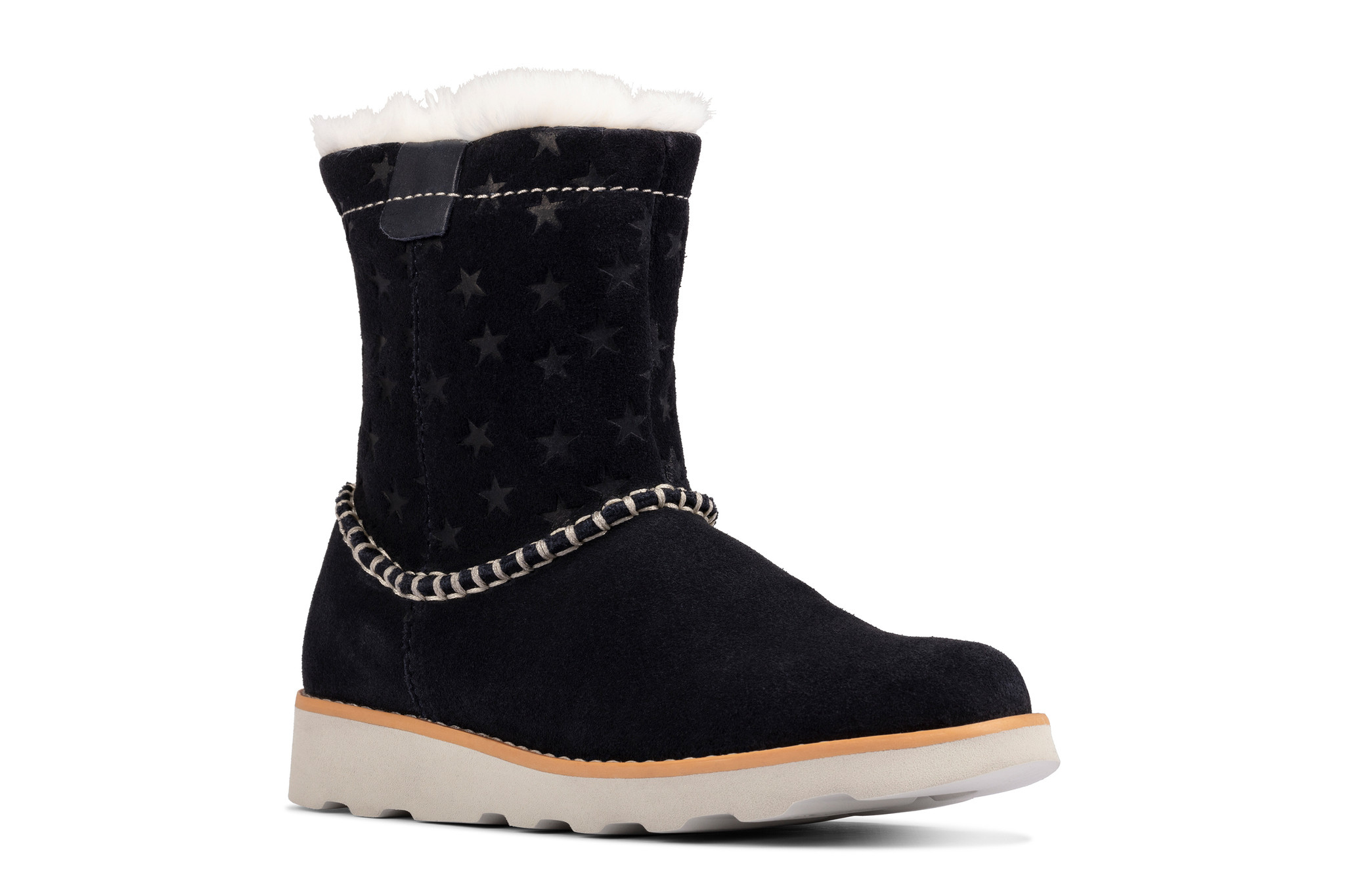 Clarks Crown Piper Navy Youth