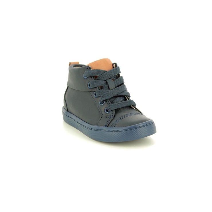 Clarks City Oasis Hi Navy Leather