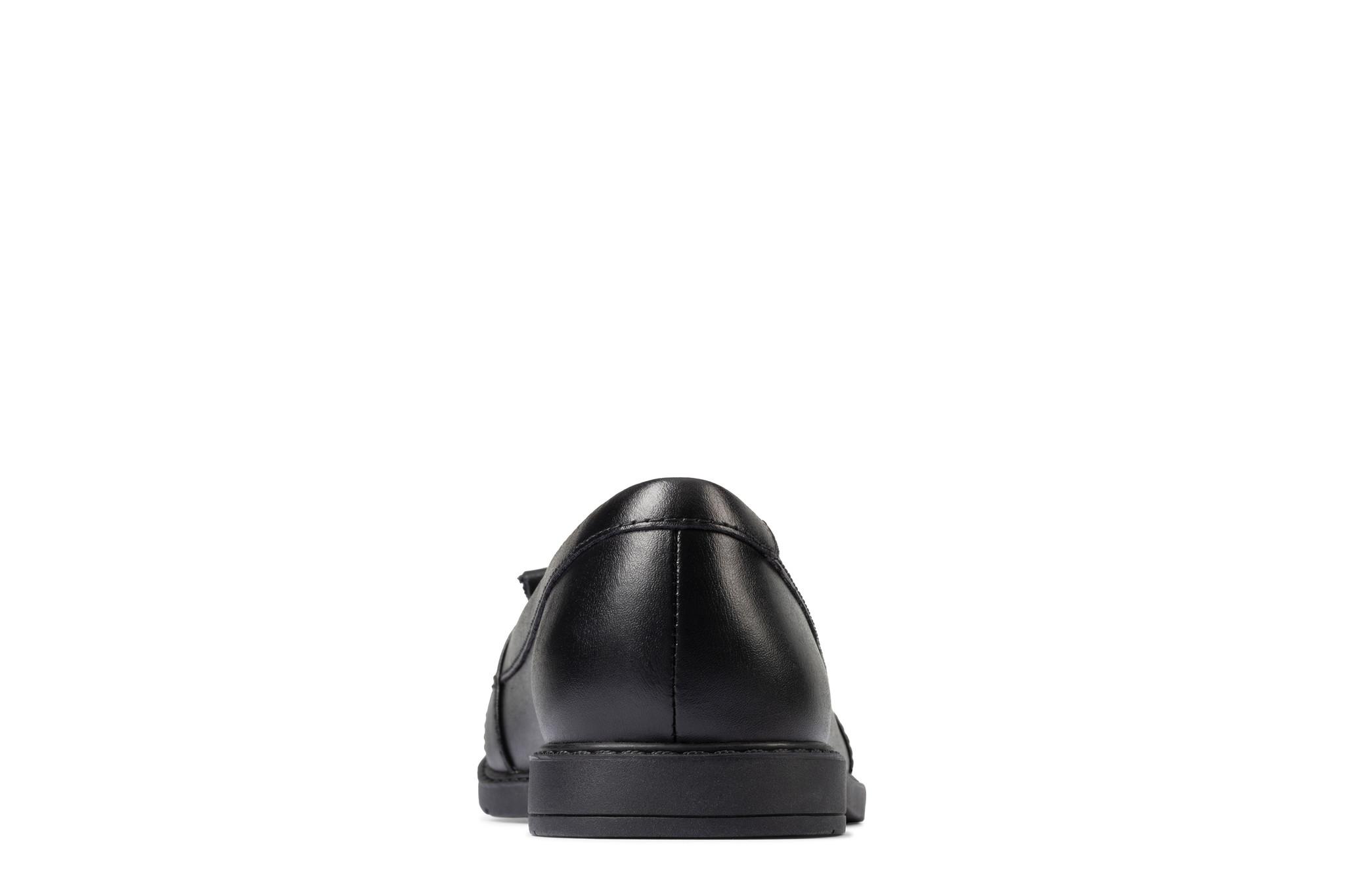 Clarks Scala Bright Black Leather 5.5