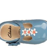 Clarks Tiny Flower Mid Blue