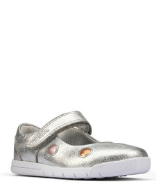 Emery Dot Silver Leather Junior