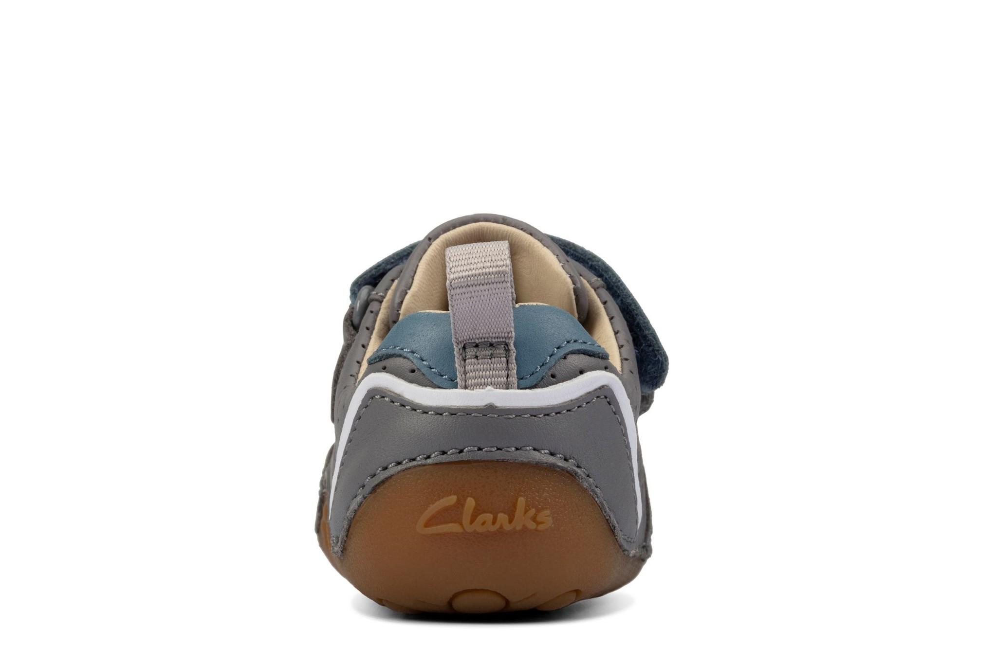 Clarks Tiny Sky Grey Leather