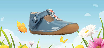 Clarks Tiny Flower Mid Blue