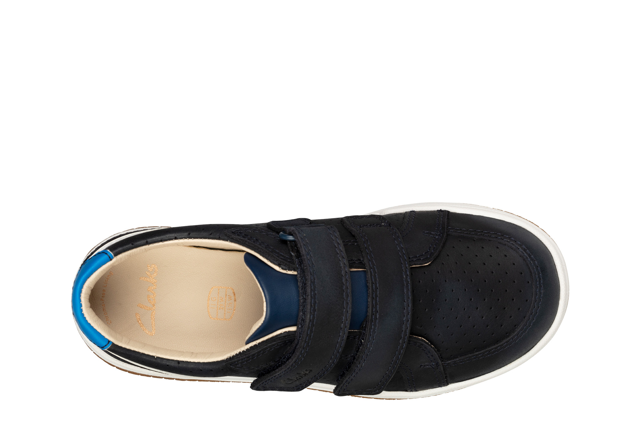 Clarks Fawn Solo Navy Junior