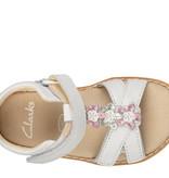 Clarks Crown Flower White Infant