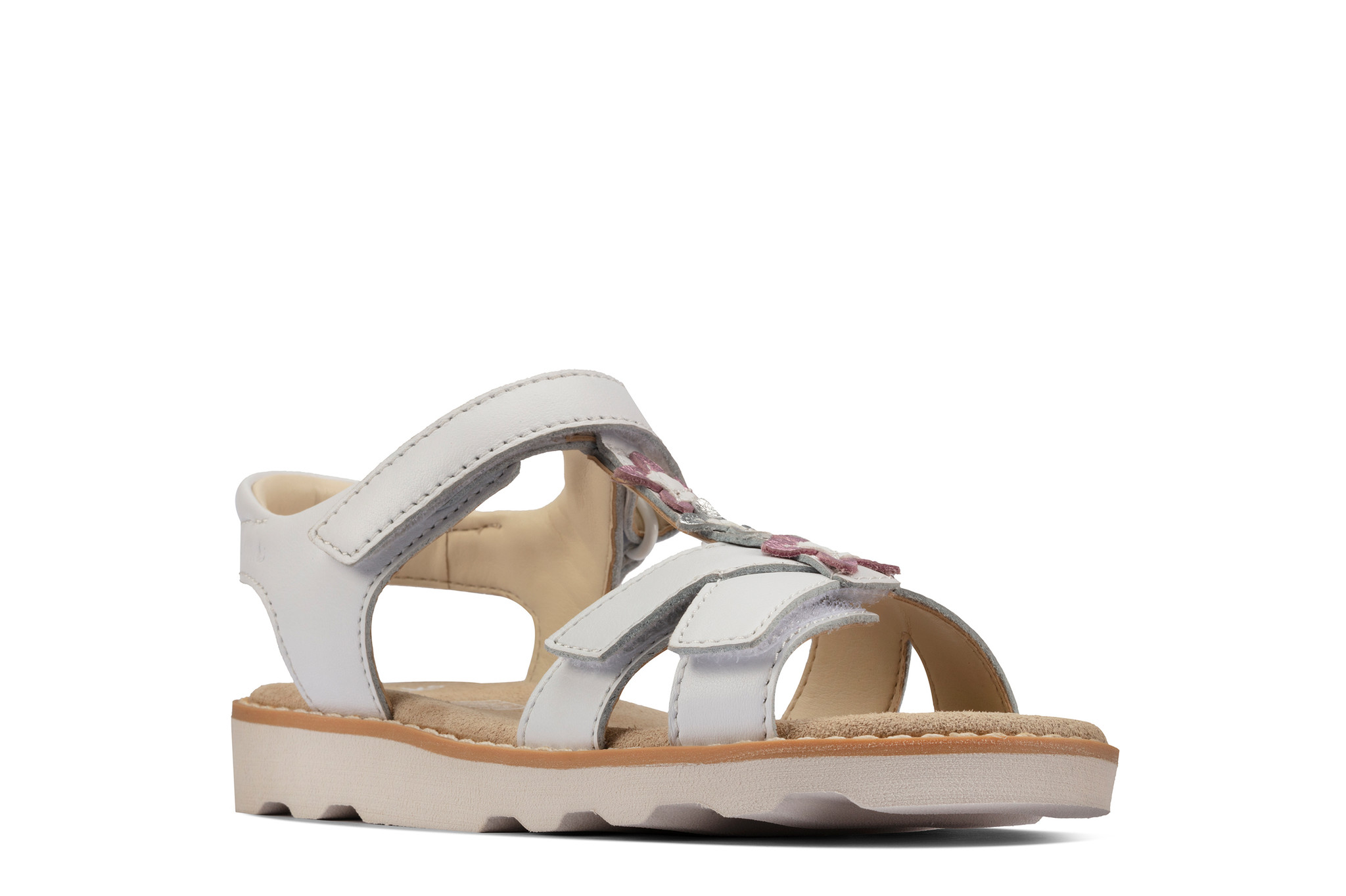 Clarks Crown Flower White Youth