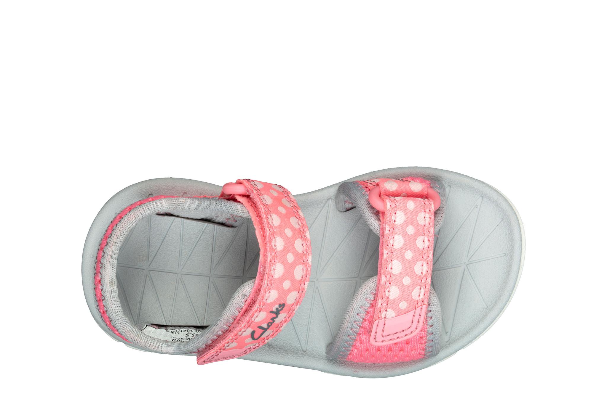 Clarks Surfing Tide Pink Combi Infant
