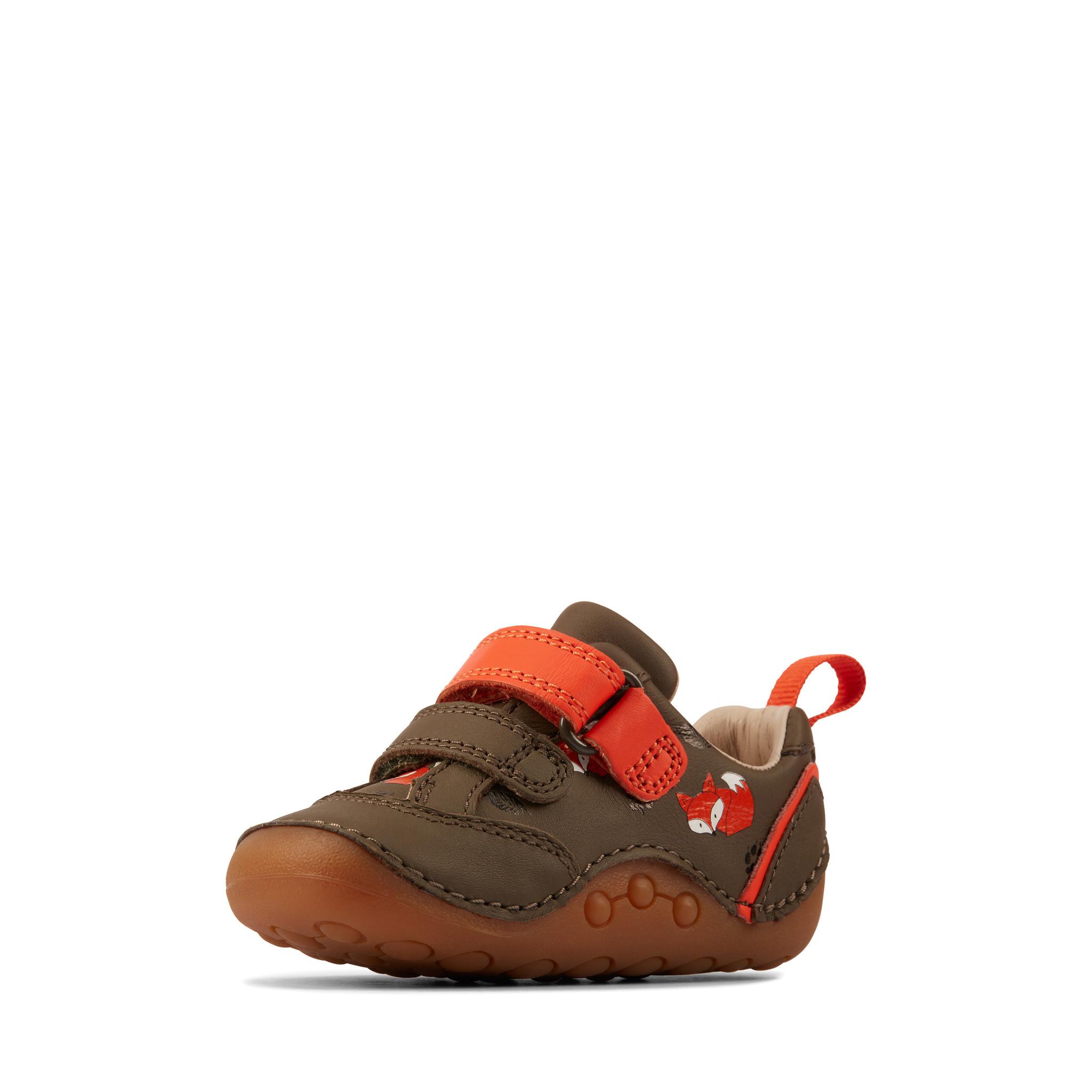 Clarks Tiny Cub Khaki Leather