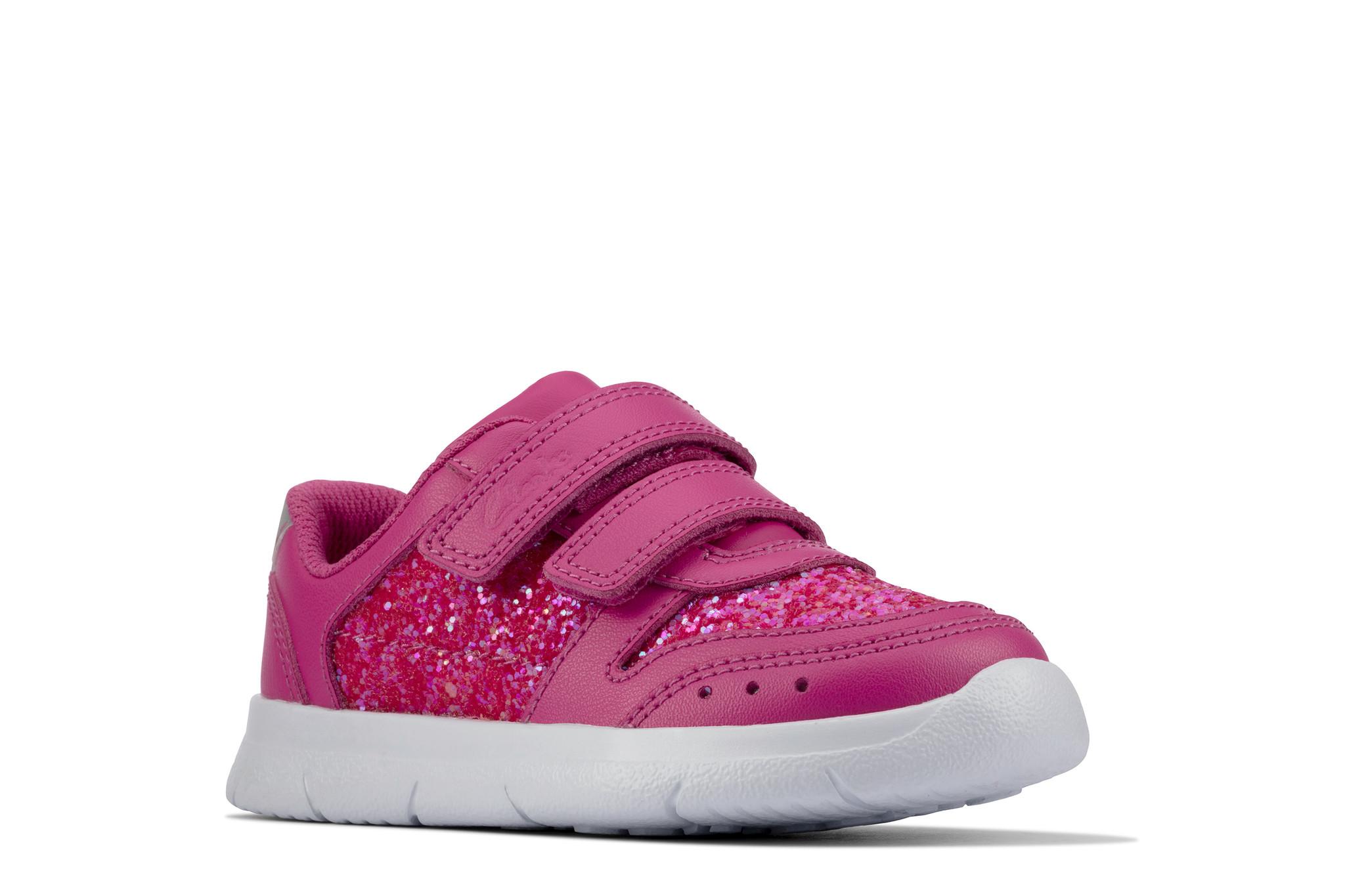 Clarks Ath Sonar Lipstick Pink Infant
