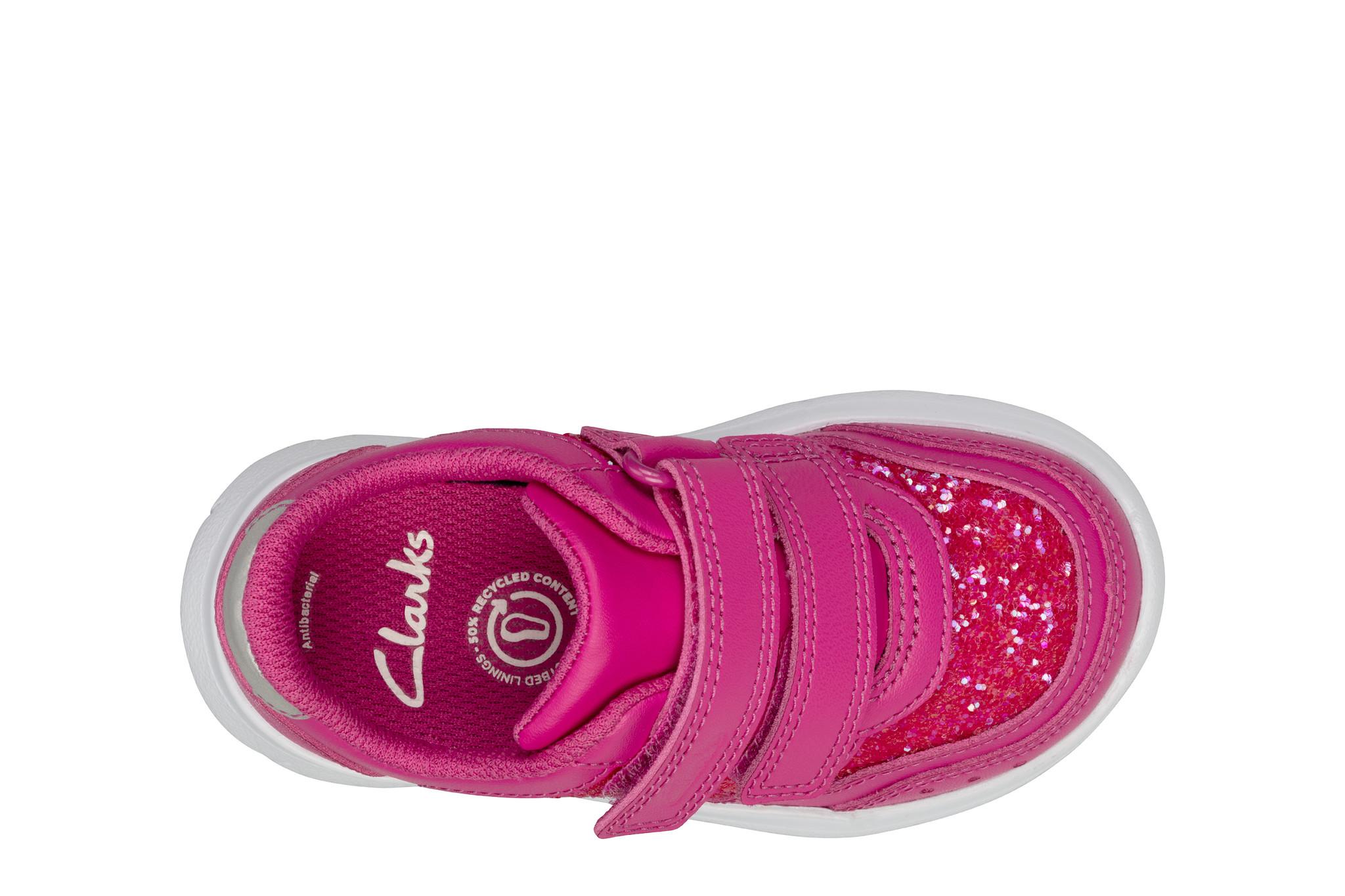 Clarks Ath Sonar Lipstick Pink Junior