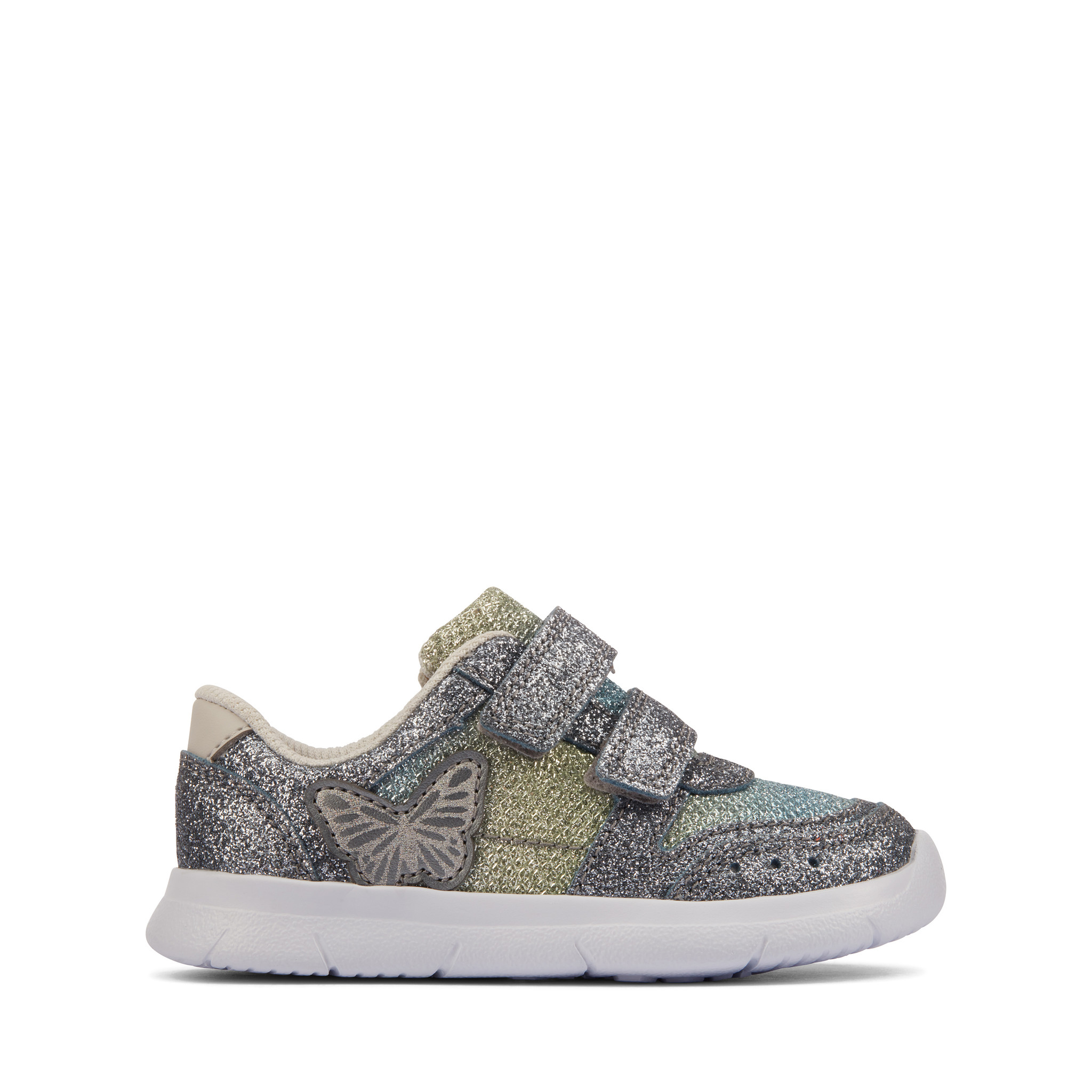 Clarks Ath Wing Pewter Infant