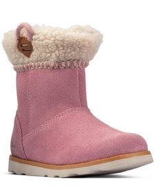 Crown Loop Pink Suede Infant