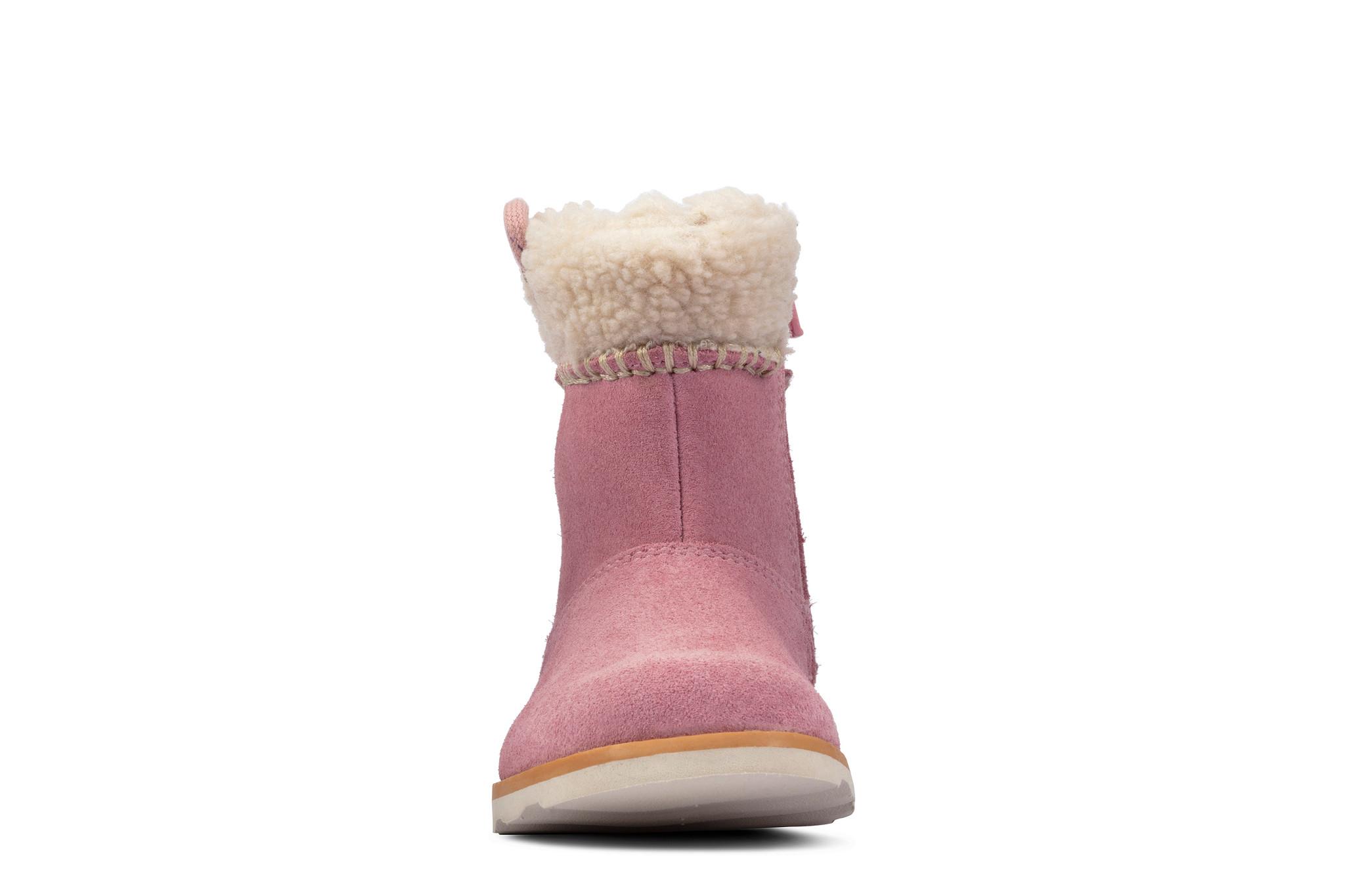 Clarks Crown Loop Pink Suede Infant