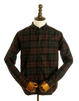 Norse Projects N40-0458 BROWN FLANNEL CHECK