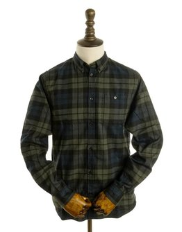 Norse Projects N40-0458 BLACK FLANNEL SHIRT