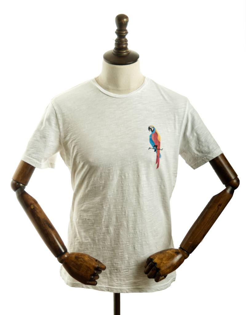 Seven For All Mankind JSIM389PWI Slub Parrott Tee