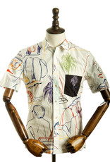 Paul Smith M1R-215T-A00648 - S/S SKETCH SHIRT