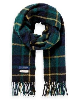 Scotch & Soda Checked Wool Blend Scarf