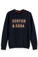 Scotch & Soda Navy Logo Sweater | 150525
