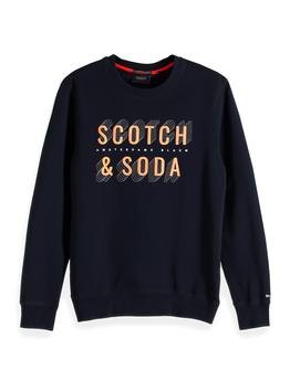 Scotch & Soda Navy Logo Sweater