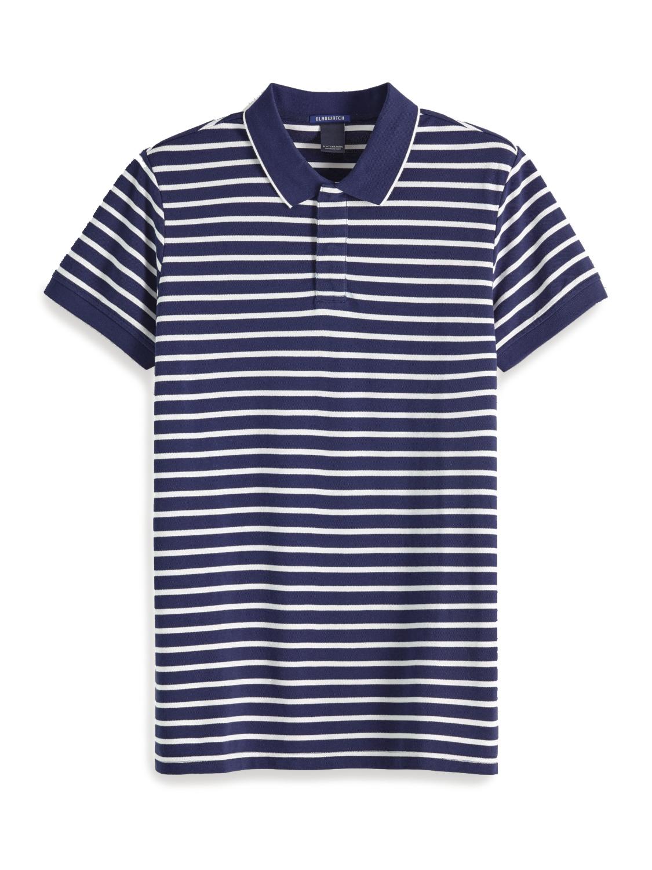 Scotch & Soda Navy Striped Polo | 151273