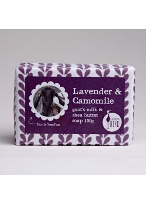 Laughing Bird Shea Butter and Goats Milk Soap - Lavender and Chamomile