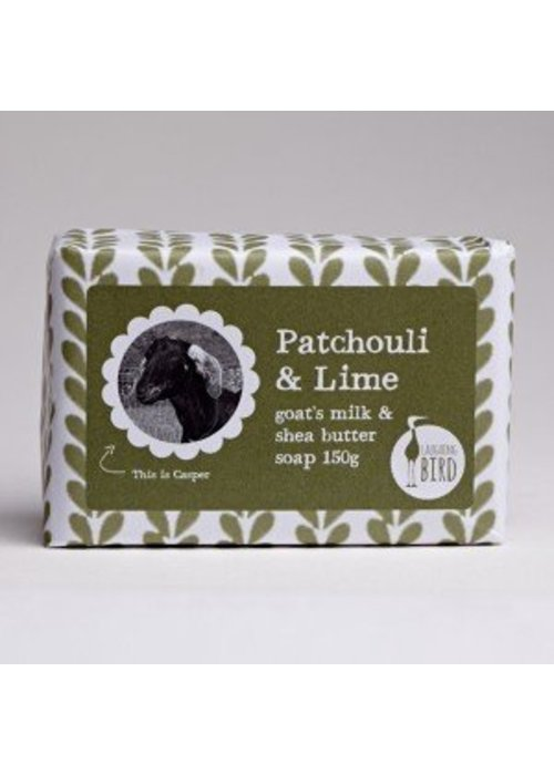 Laughing Bird Shea Butter and Goats Milk Soap - Patchouli and Lime