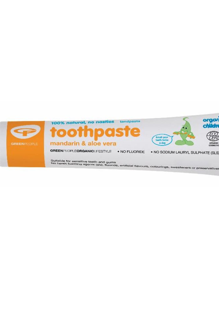 Organic Children Mandarin and Aloe Vera Toothpaste