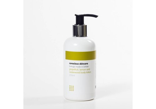 Conscious Skincare Organic Body Lotion: Grapefruit Lemon and Cedarwood