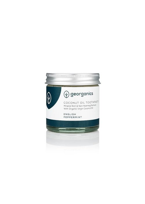 Georganics Organic Natural Toothpaste: Coconut English Peppermint