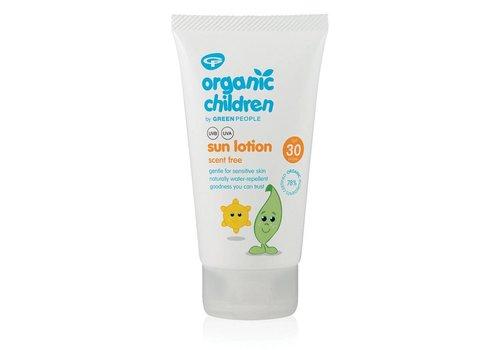 Green People Organic Children Sun Lotion SPF30 - Scent Free 150ml
