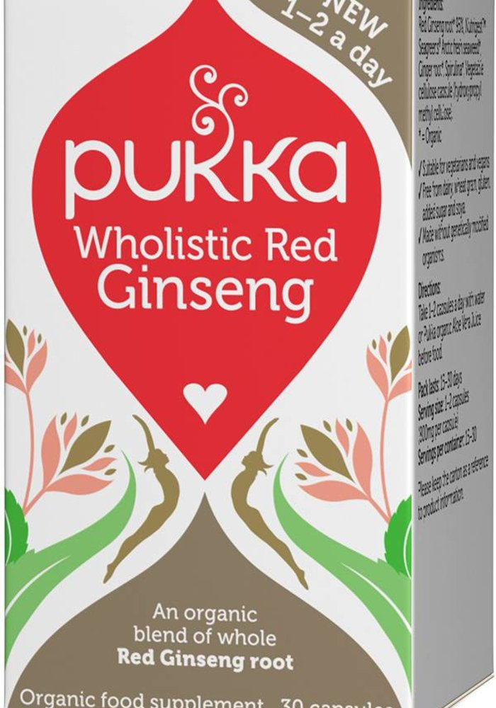 Wholistic Red Ginseng, Organic