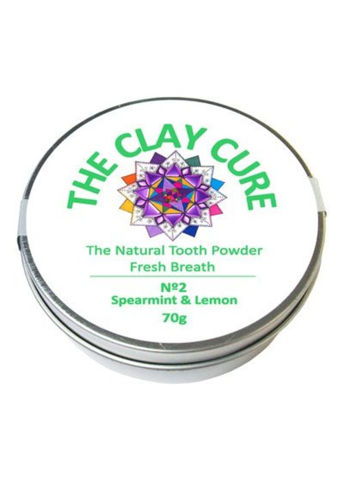 Clay Cure Tooth Powder - Spearmint and Lemon
