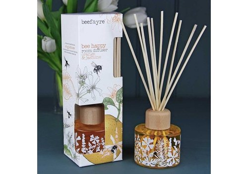 Beefayre Beehappy Orange and Jasmine Reed Diffuser