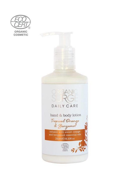 Organic Surge Organic Hand and Body Lotion - Tropical Orange and Bergamot