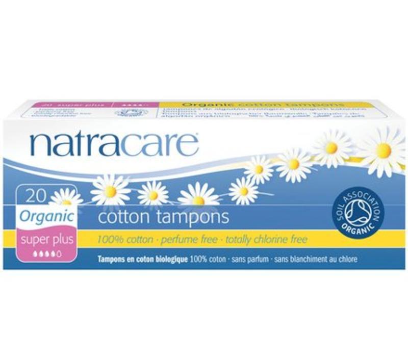 Natural Organic Cotton Tampons - 20s