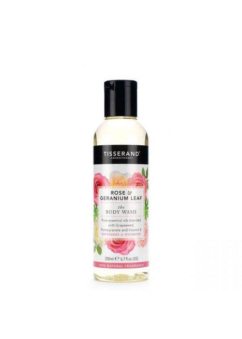 Tisserand Body Wash - Rose and Geranium