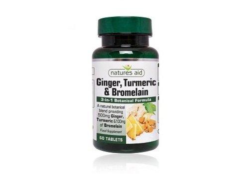Natures Aid Ginger, Turmeric & Bromelain