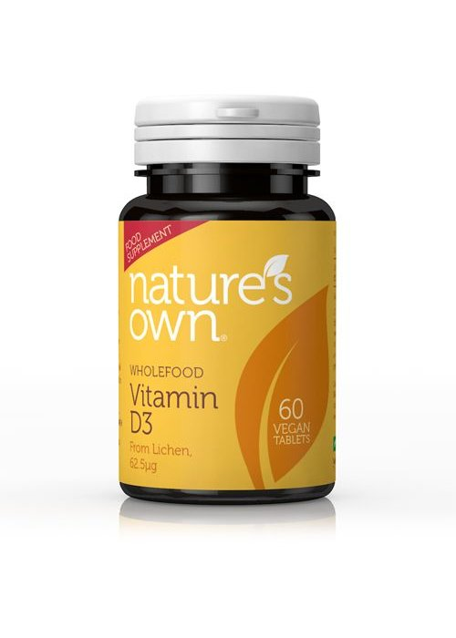 Nature's Own Whole Food Vitamin D3 Vegan 60 tabs