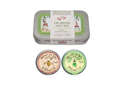 Filberts of Dorset Gift Tin: Lovely Lip Balms