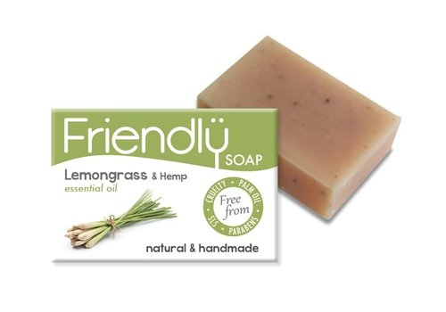 Friendly Soap Handmade Soap: Lemongrass and Hemp Seed Bar 95g