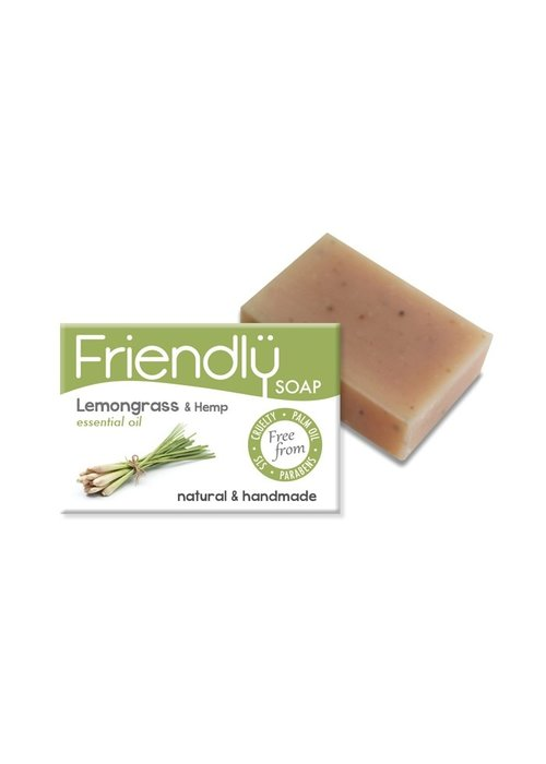Friendly Soap Handmade Soap: Lemongrass and Hemp Seed Bar 95g